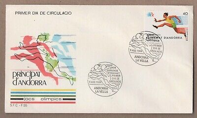 OLYMPICS 1984 -  LOS ANGELES - ANDORRA  Cover  1974 - pictorial postmarks