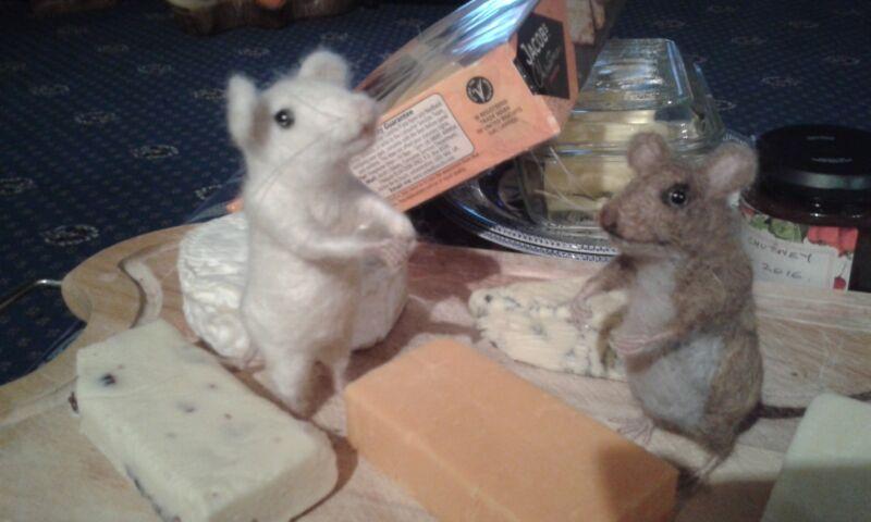 Needle felting kit mice British Wool