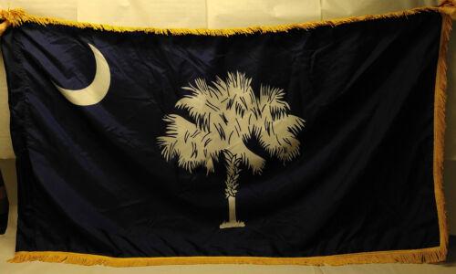 South Carolina State Flag     US Army issue parade flag    est. 5
