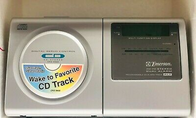 Emerson CD Stereo Clock Radio CKD9909 Independent, Dual Alarms