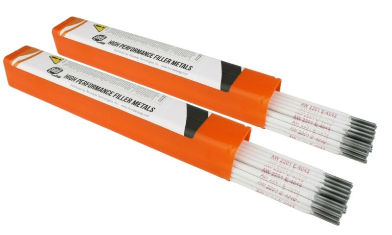 "SÜA - Aluminum E4043 Stick Electrode Rod 1/8"" x 14"" - (2 Lb)"