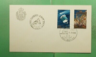 DR WHO 1986 SAN MARINO FDC SPACE HALLEYS COMET COMBO  g13417