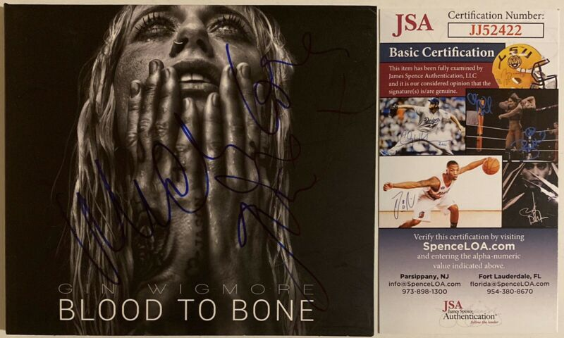 Gin Wigmore Signed Blood To Bone CD Autographed JSA COA