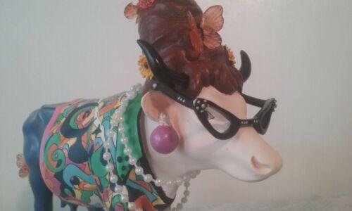 Cow Parade BEEHIVE BOVINE Cow Figurine Original Box Styrofoam Hangtag MINT