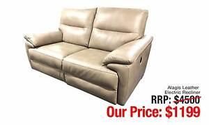 ALAGIS LEATHER ELECTRIC RECLINER TWO SEATER LOUNGE Ultimo Inner Sydney Preview