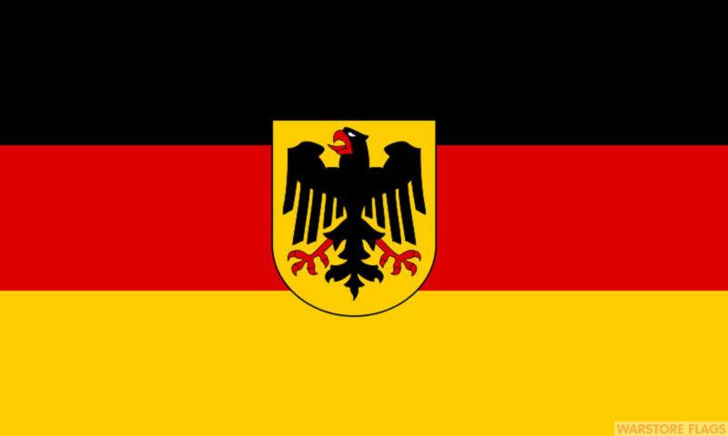 "GERMANY WITH CREST mini flag 9"" x 6"" 22cm x 15cm flags GERMAN"