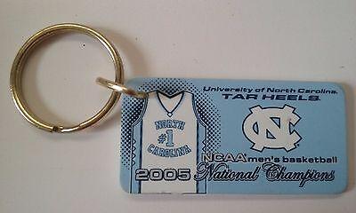 North Carolina Tar Heels Plastic Keyring 2005 NCAA National Champions ACC New 2005 North Carolina Tar Heels