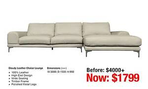 CLOUDY LEATHER CHAISE LOUNGE Leumeah Campbelltown Area Preview