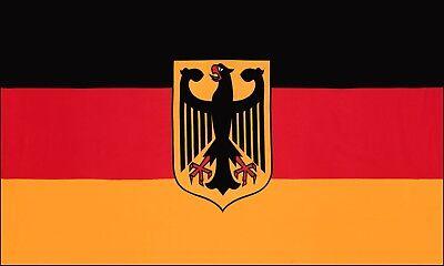 Fahne Flagge - Deutschland mit Adler - 90 x 150 cm, mit 2 Ösen