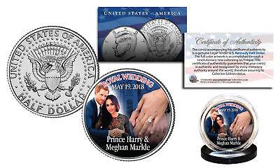 ROYAL WEDDING 5-19-2018 Kennedy Half Dollar Coin PRINCE Harry & MEGHAN Markle