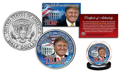 DONALD TRUMP 45th President 2016 OFFICIAL U.S. JFK Half Dollar Coin WHITE HOUSE