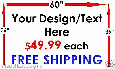 "Design Your Own 36"" x 60"" Vinyl Banner Indoor Outdoor Sign FREE SHIPPING"
