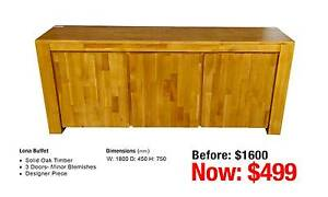 LONA BUFFET SOLID OAK TIMBER Granville Parramatta Area Preview