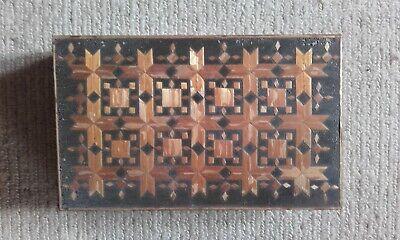Wheat straw hand-craft decorated wooden trinket box