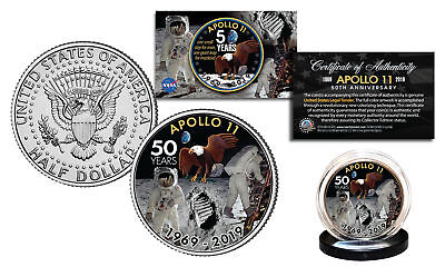 APOLLO 11 50th Anniversary Man on Moon Genuine JFK Kennedy Half Dollar US Coin
