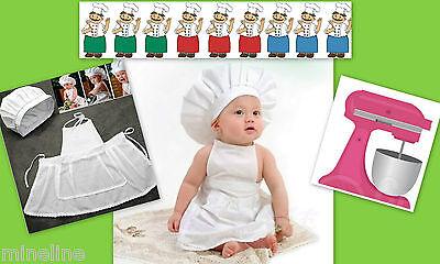★★★ NEU Baby Fotoshooting Kostüm Kleiner Koch / - Kleines Mädchen Koch Kostüm