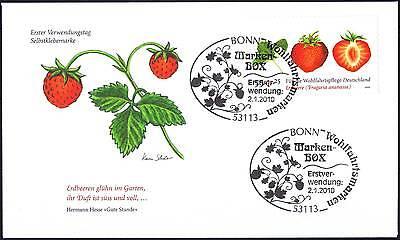 BRD 2010: Erdbeere! FDC der selbstklebenden Nr. 2777! 1A! Bonner Stempel! 1702