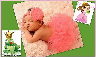 ★★★NEU Baby Fotoshooting Kostüm Rüschen Hose & Haarband Elfe 0-6 - Baby Elf Kostüm