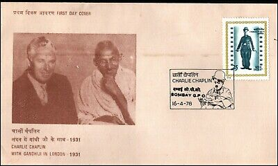 India 1978 Charlie Chaplin Commemoration FDC Bombay GPO PM