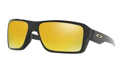 OAKLEY DOUBLE EDGE SUNGLASSES | POLISHED BLACK / 24K IRIDIUM | 9380-0266