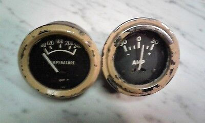 Vintage Set Of 2 Farm Tractor Gauges Tempamp Allis Chalmerscaseinternational
