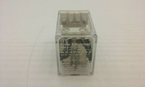 POTTER & BRUMFIELD KHU-17D11-24 RELAY 14 BLADE 5A 120V 24VDC COIL NNB