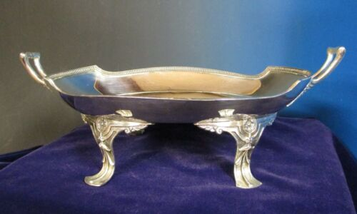 Antique WILCOX Silverplate Handled Bowl Engraved Sumner 1869 Political Family