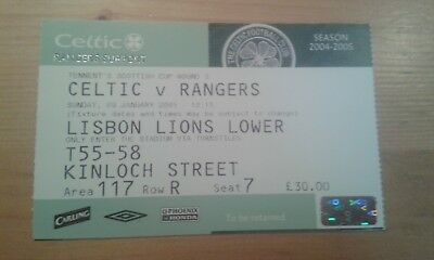 TICKET # CELTIC - RANGERS 09/01/2005 SCOTTISH CUP 2004/2005