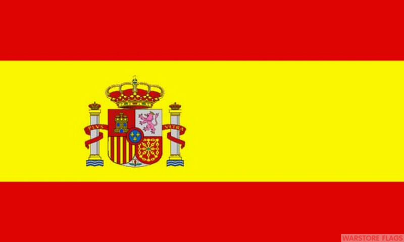 SPAIN CREST 5x3 feet NYLON FLAG 150cm x 90cmm flags High quality SPANISH
