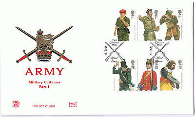 Military Uniforms 2007 The Chosen Men First Day Cover Stamps SG2774 to SG2779
