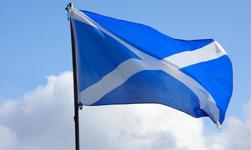 Scotland Flag Large 5 x 3 FT - St Andrews Light Blue - Euro 2020 2021