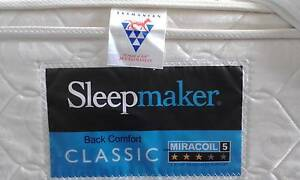 SOLD pending pick up. Queen size sleepmaker miracoil mattress Kingston Kingborough Area Preview