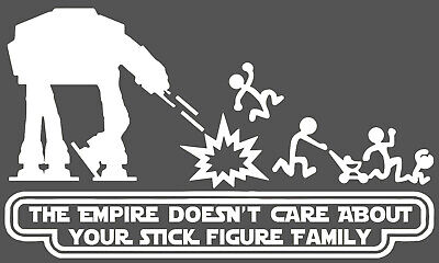 Star Wars Stick Family AT-AT Vinyl Decal Sticker Car Van Laptop Tablet Wall