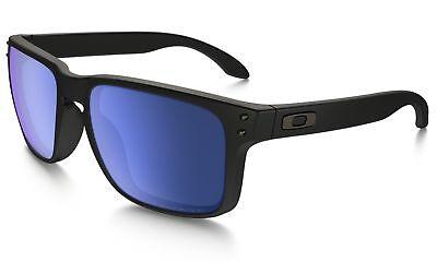 ce49646035 Oakley Holbrook Sunglasses Matte Black Frame Ice Iridium Lens OO9102-52