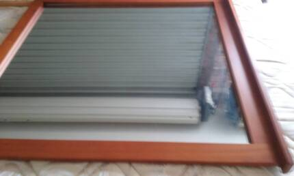 LARGE WOODEN MIRROR 1000 BY 1000 exc.cond.