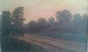 The Old Dirt Road - A Fraser 1922 - Oil on Canvas Beecroft Hornsby Area Preview