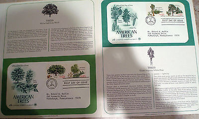 Postal Society First Day Cover FDC # 1764-1767 15 cent American Trees 1978 stamp