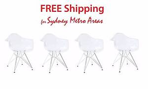 SALE - Eames Style DAR Dining Chair - Transparent (set of 4) Zetland Inner Sydney Preview