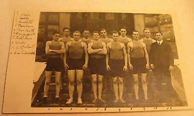 Early 1900's College Men's Sports Team Postcard