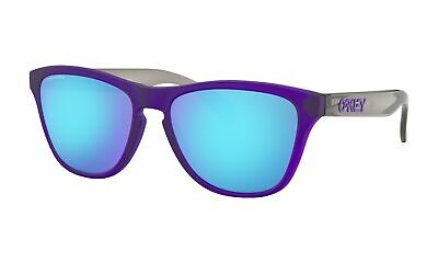 Oakley Sunglasses Frogskins Xs Matte Translucent Purple W/ Prizm Sapphire (Oakley Sunglasses Purple Lens)