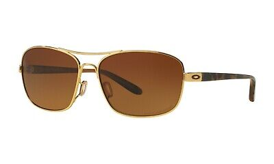Oakley Sanctuary POLARIZED Sunglasses OO4116-03 Polished Gold W/ Brown Lens  (Oakley Sunglasses Gold Lens)