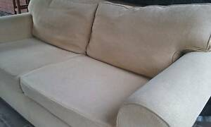 Camel Rib Lounge with Fold Out Sofa Bed Riverstone Blacktown Area Preview