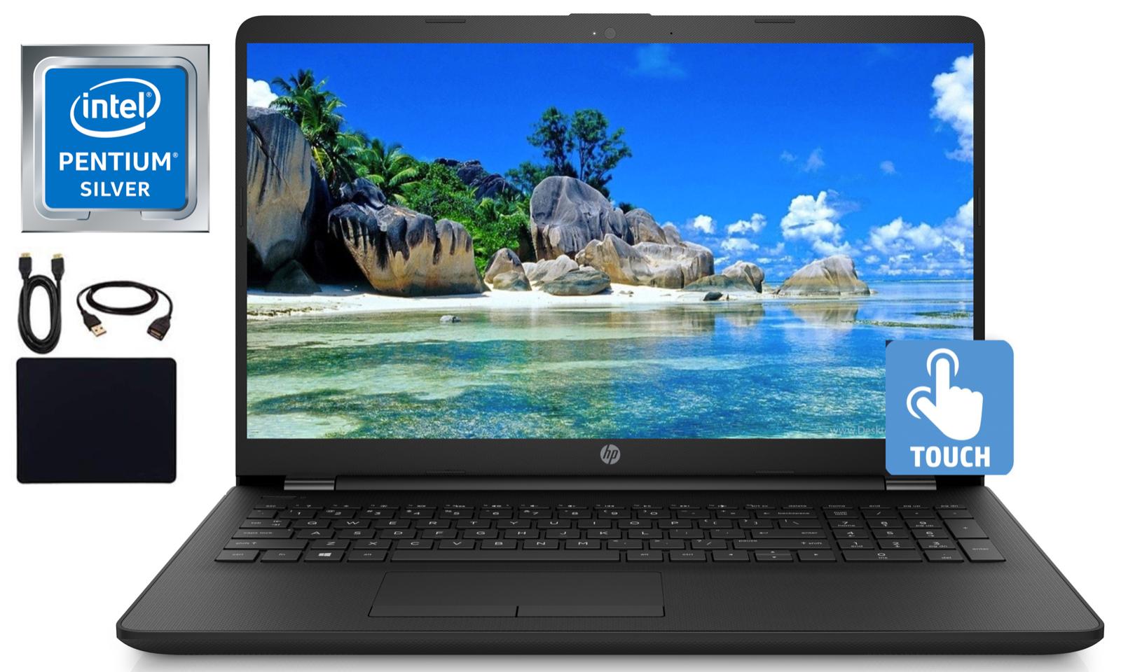 """2019 Newest HP 15.6"""" Touchscreen Laptop Quad Core Pentium 8G"""