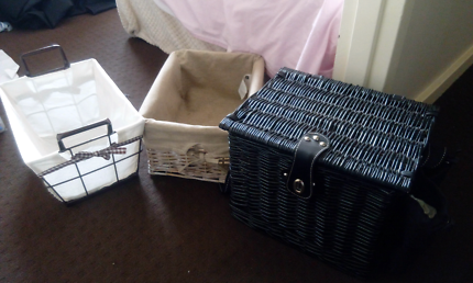 Pinic basket and two storage basket