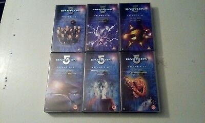 BABYLON 5 x 6 VIDEOS LOT