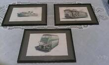 3 x Vintage Art Original John Gunter Drawings Of Manly History Avalon Pittwater Area Preview