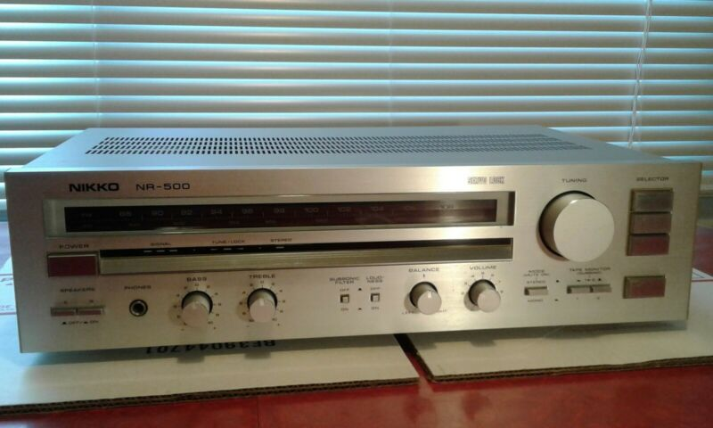 NIKKO AUDIO NR-500 AM/FM STEREO RECEIVER TESTED WORKING