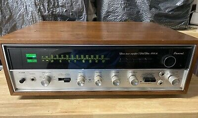 Sansui AM/FM Stereo Tuner Amplifier 5000A Wood Case-Tested / Working