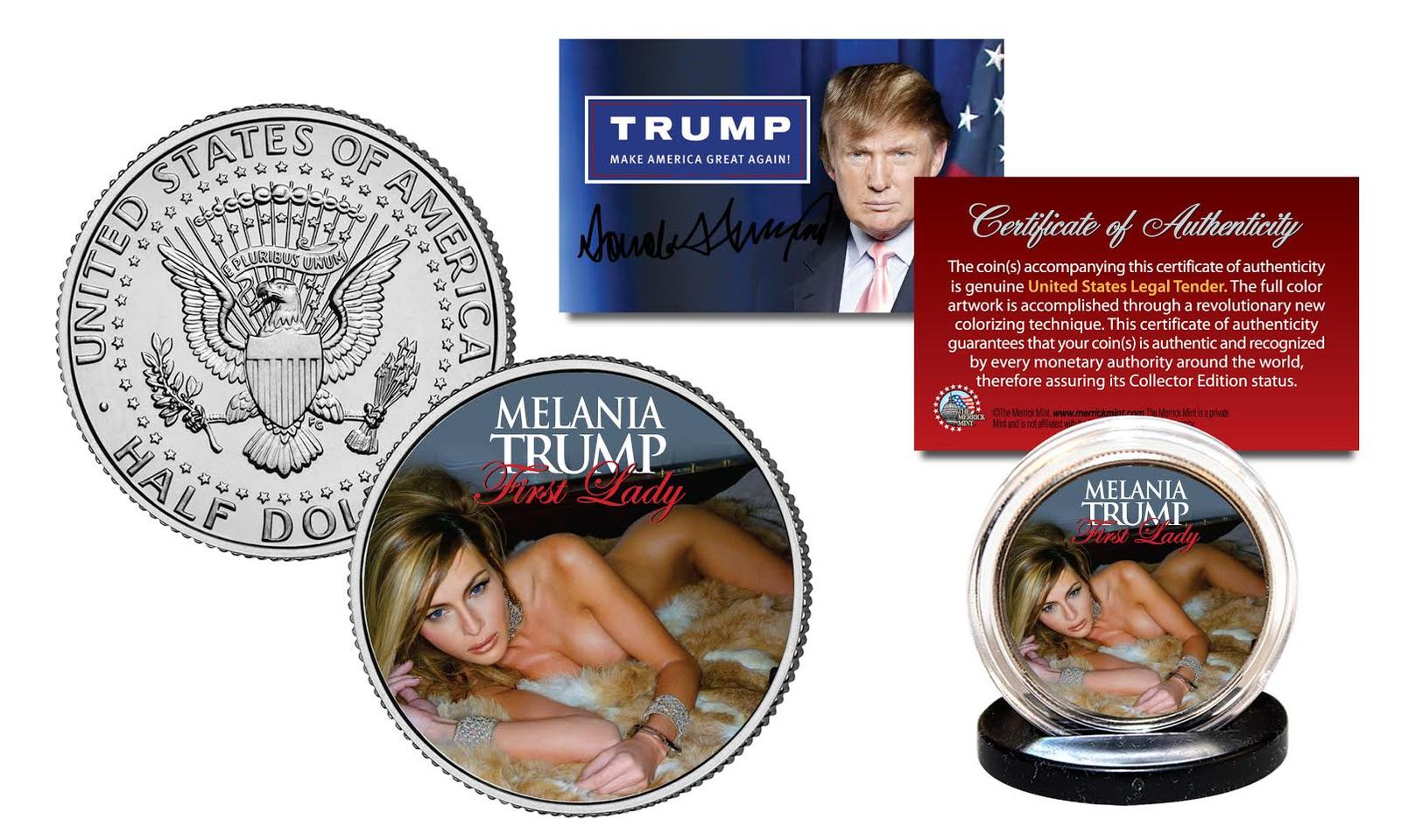 MELANIA TRUMP First Lady President Election OFFICIAL 2016 JFK Half Dollar Coin