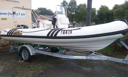 18ft DHUWEST RIB WITH 60HP MERC + TRAILOR